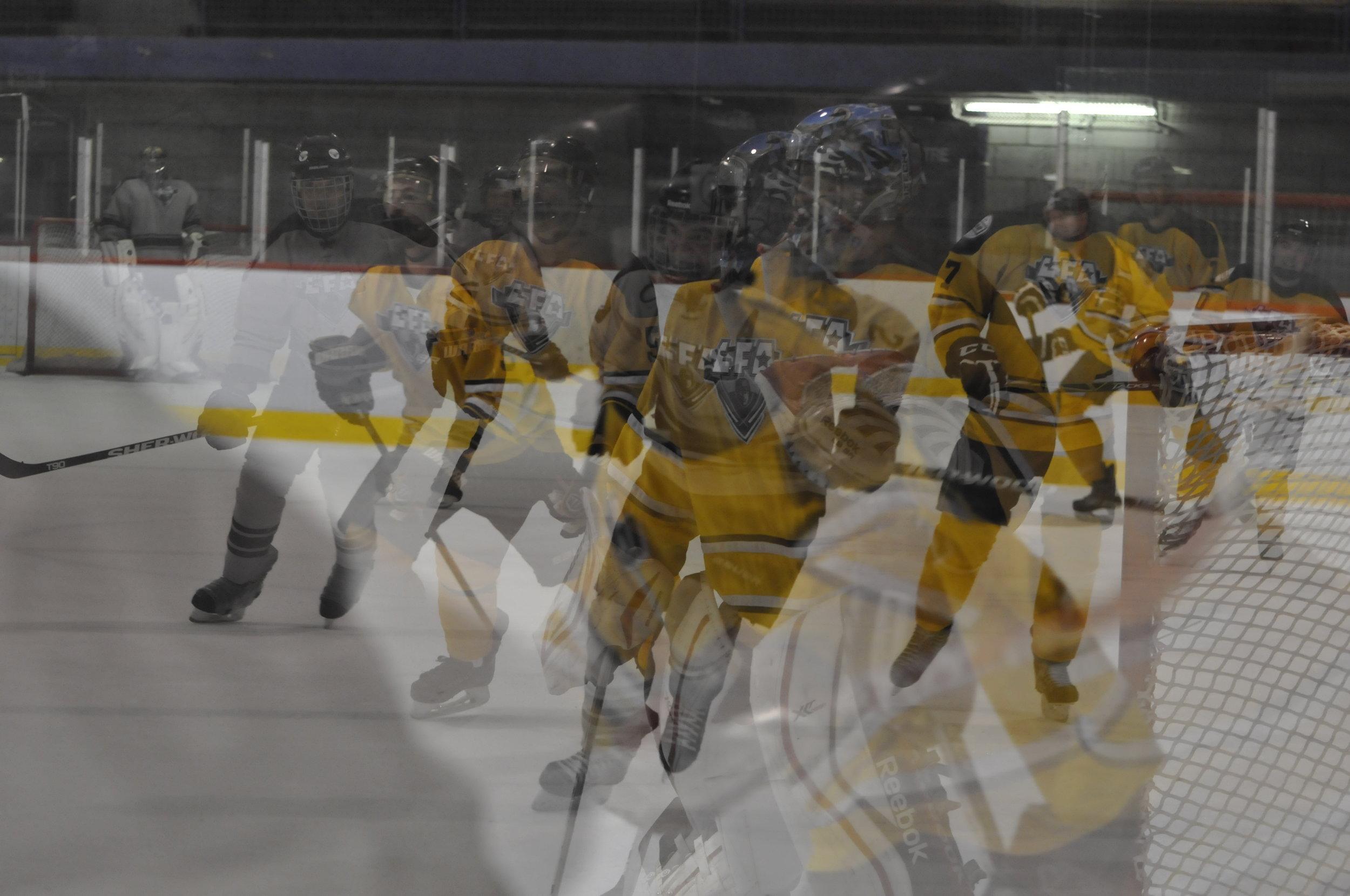 quand les souvenir de jouer au hockey deviennent floues (Photo lisette nepveu)