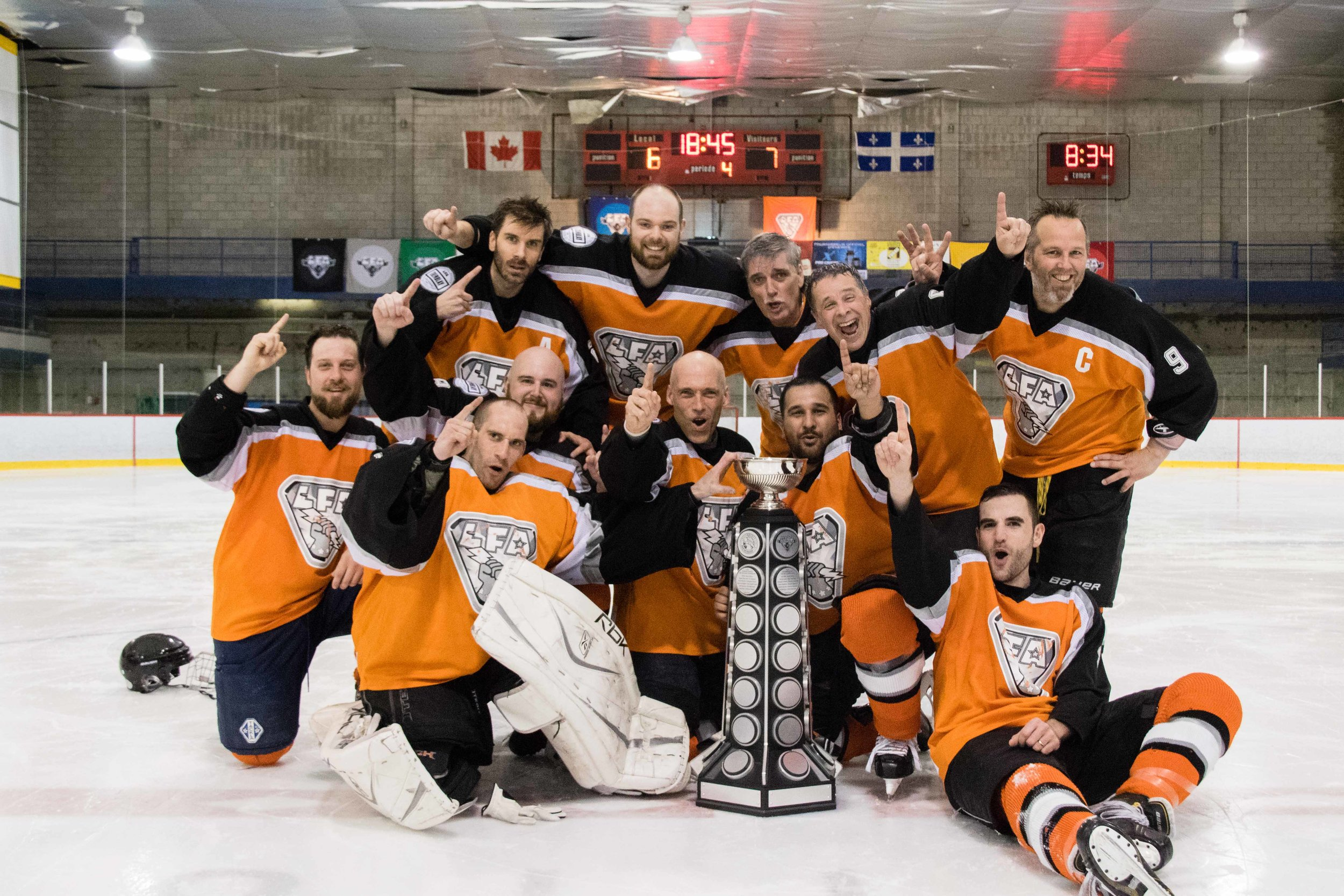 The 2016-2017 edition of the Meteors who came back from behind to clinch the spring championship in a very entertaining game. (photo Joseph Fleming)