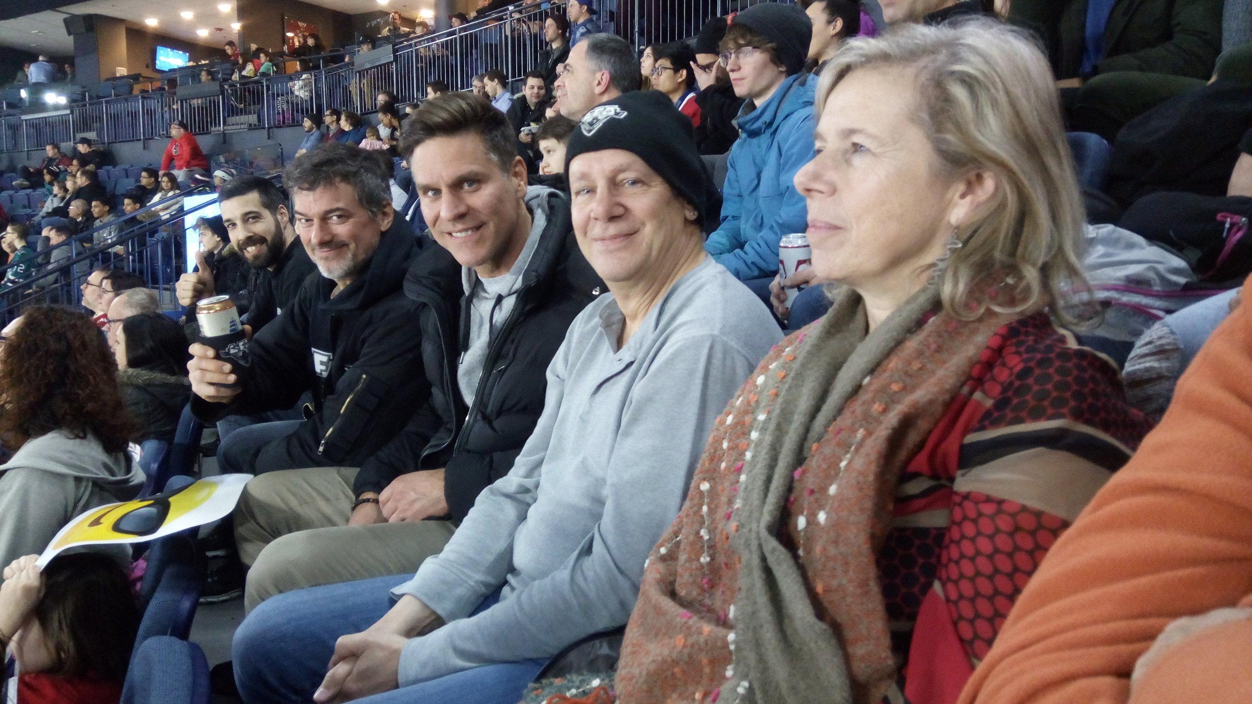 Quelques uns des boys de la LFA lors du match du Rocket de Laval le 22 février dernier. (photo lisette nepveu)