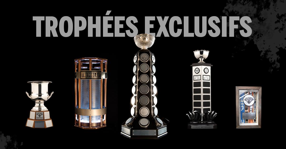 la collection de trophées de la ligue fédérale des as (photo jfd)