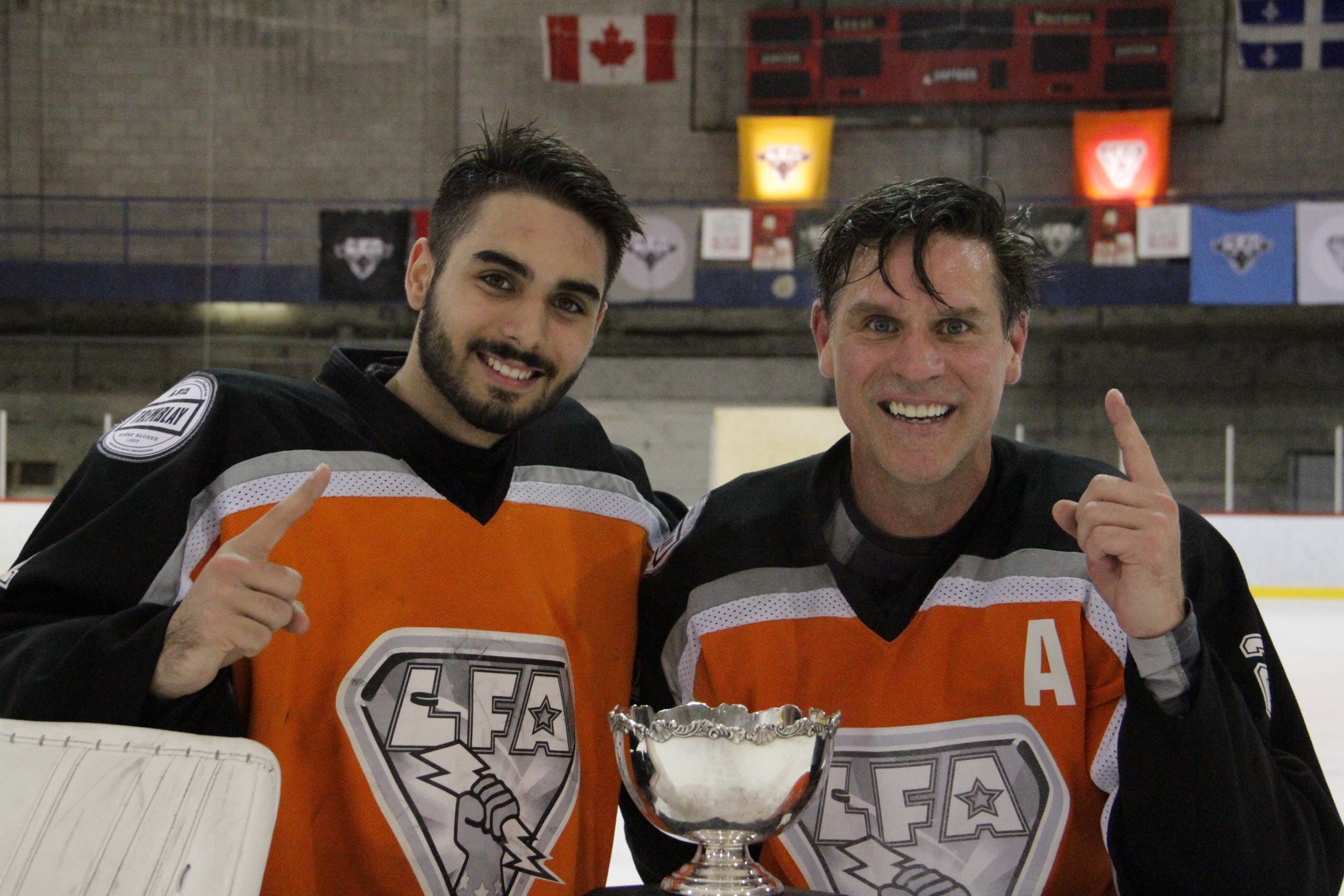 le premier duo père et fils a gagner un championnat dans la lfa. Félicitations à Zack et Remy des Météores (photo François turgeon)