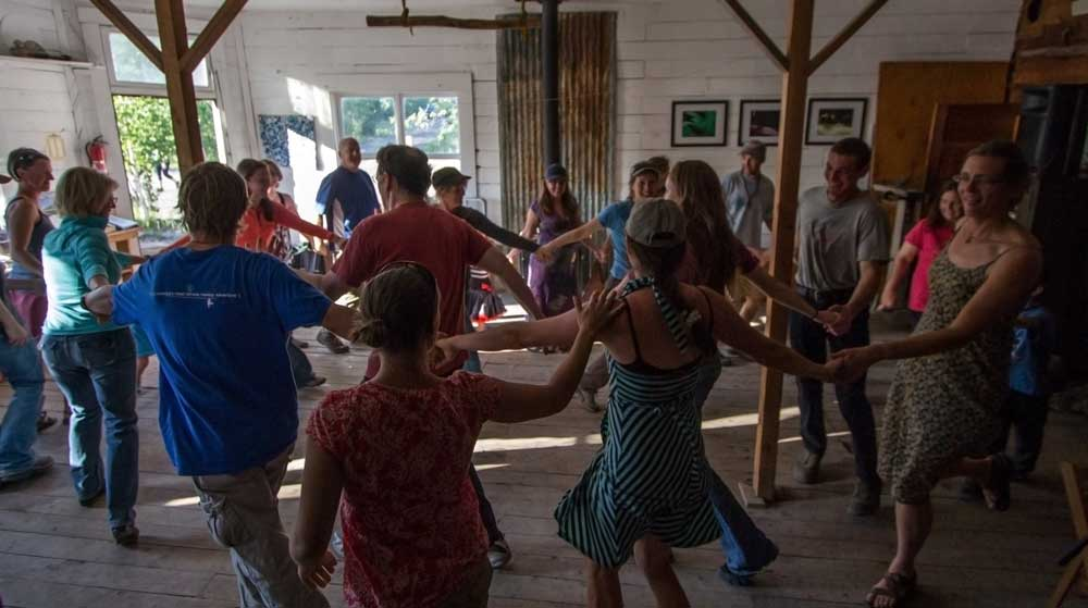 Barn Dance during the 2013 Family Music Camp  Photo by Anders Link