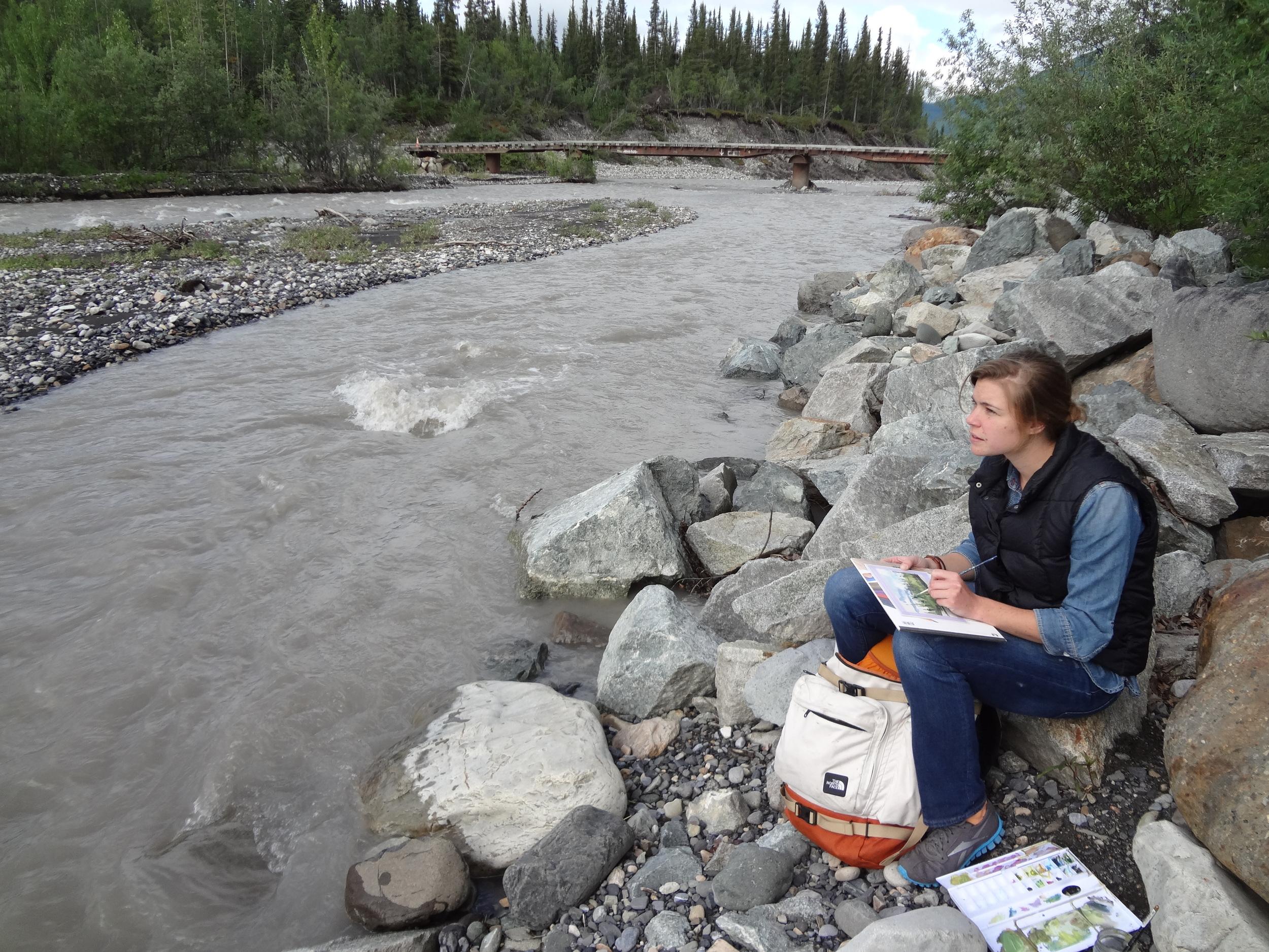 Working on McCarthy Creek