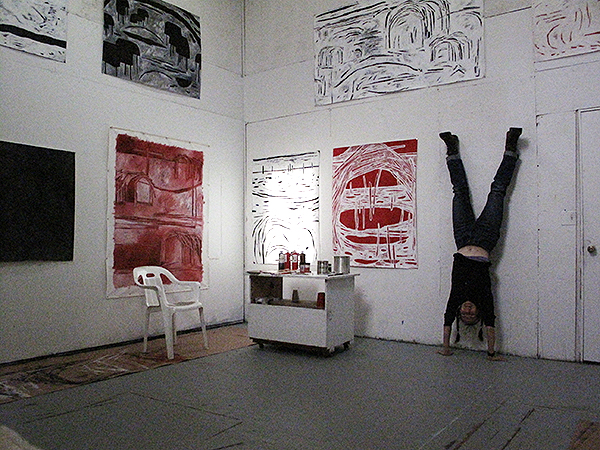 Elizabeth Irving in her studio