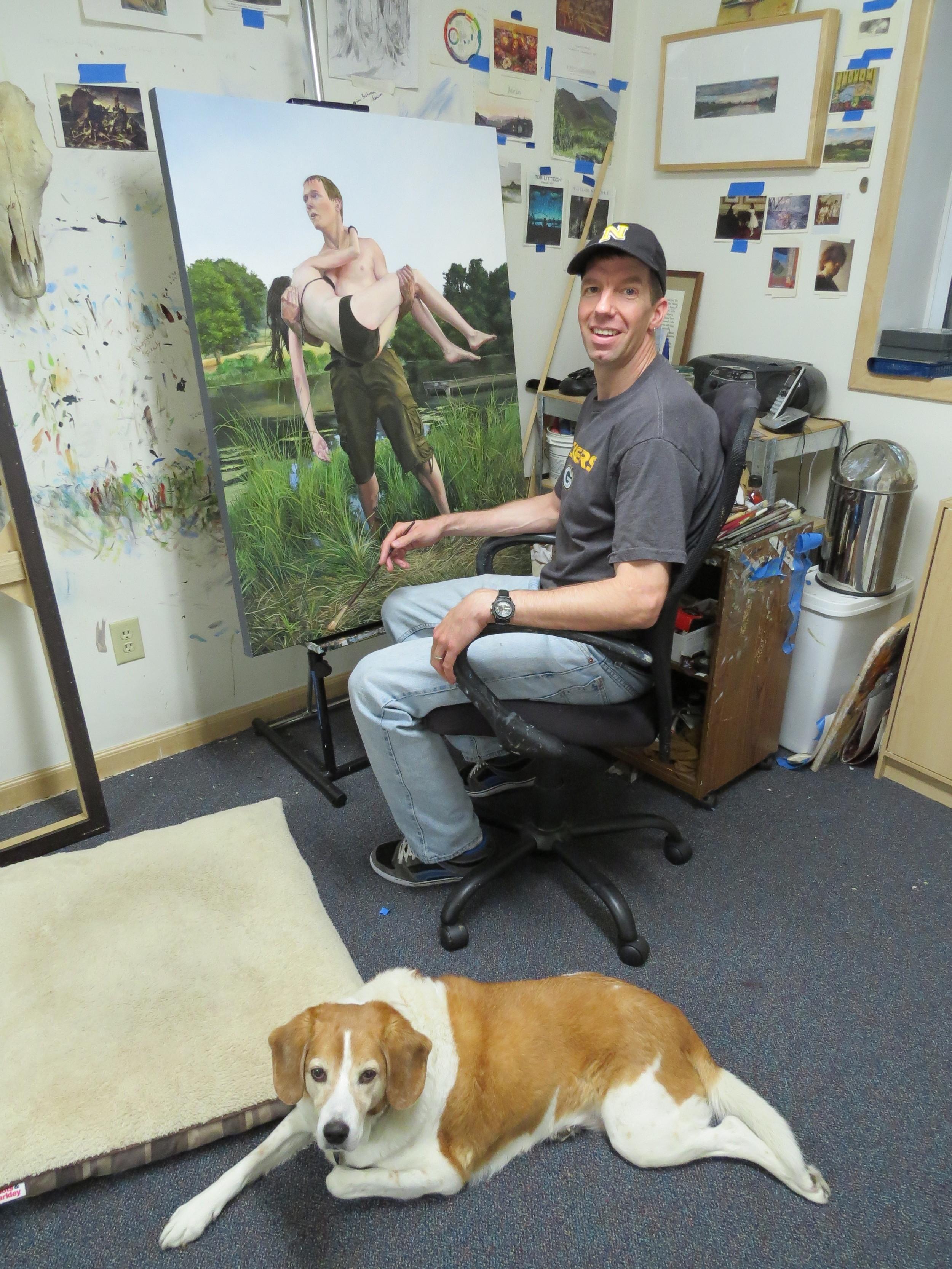 Kevin Muente in his studio