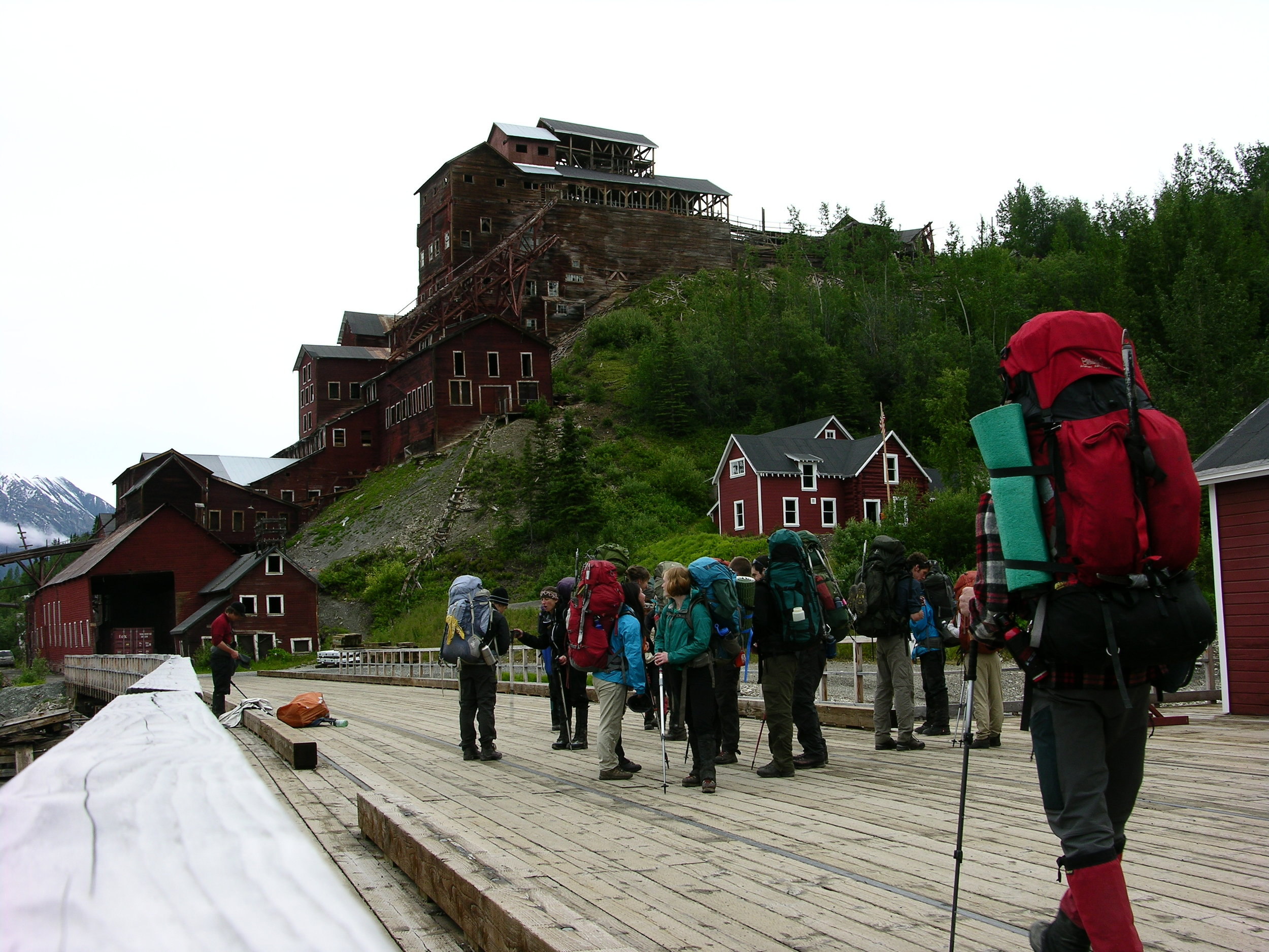 College students learn about the history, management, and politics of Wrangell-St.Elias National Park and Preserve.