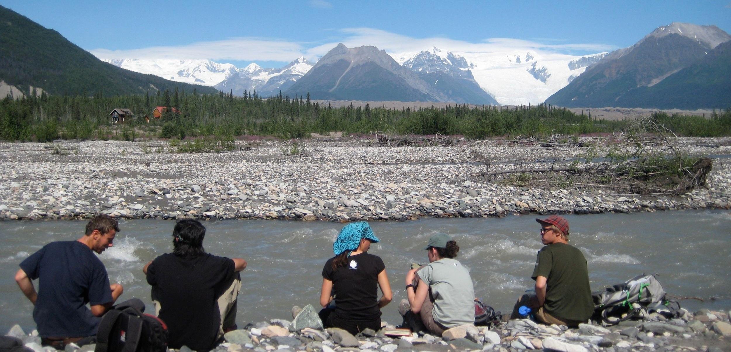 Students in our Field Studies program along McCarthy Creek.