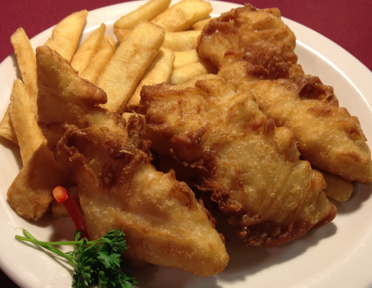 Dublin Style Fish and Chips (deep fried in trans-fat free  oil)