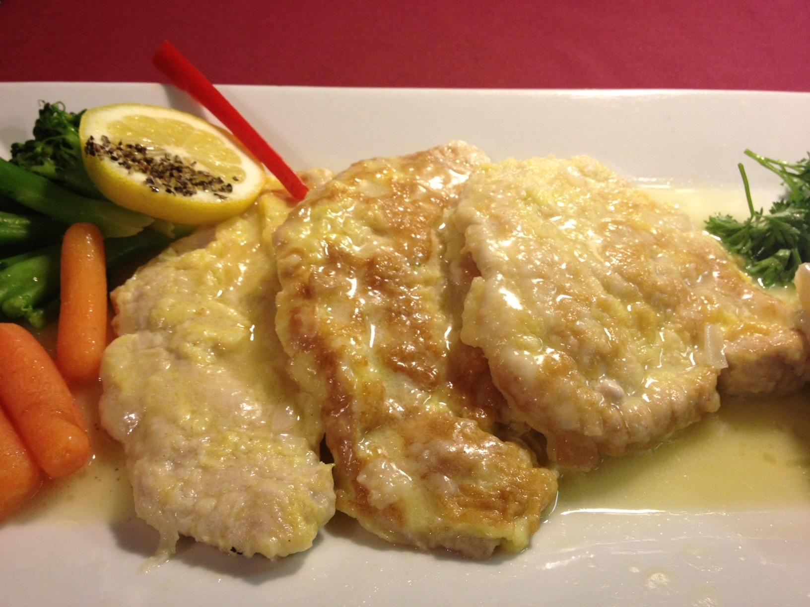 Sautéed Pork Medallions Francaise Style... White wine lemon butter sauce