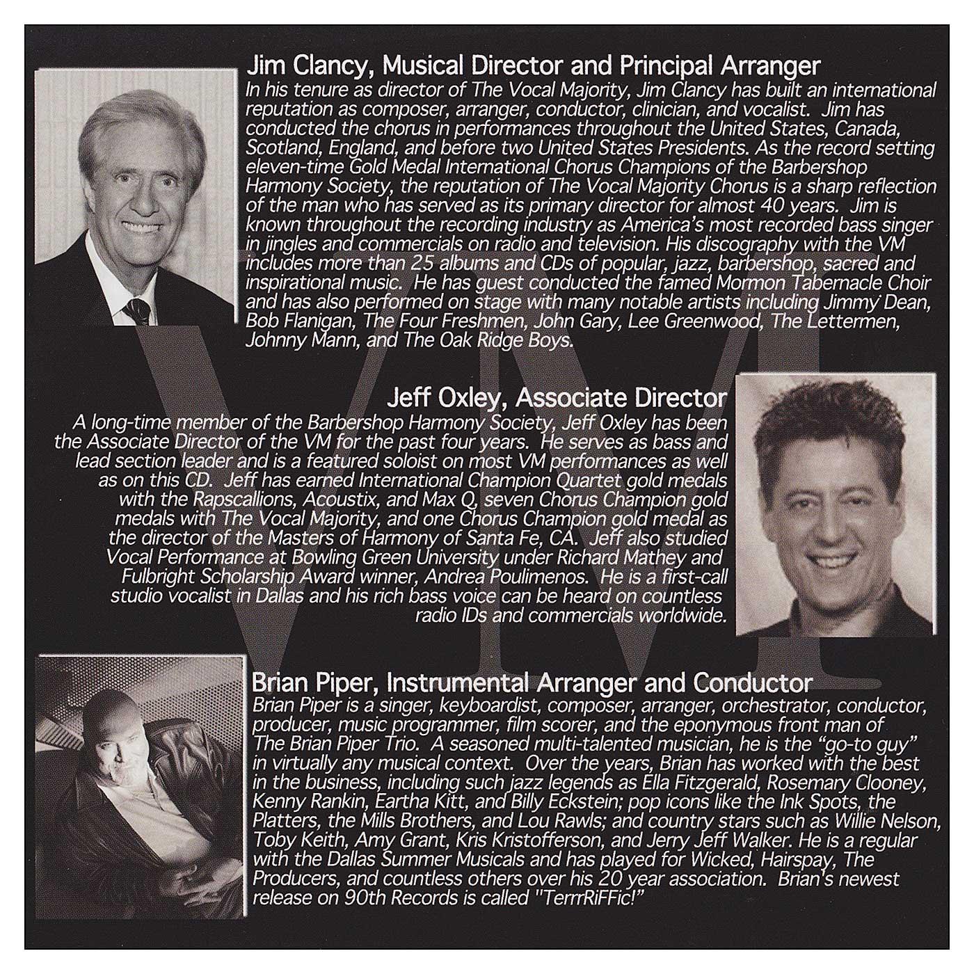 Booklet Back Panel: VM Bandstand