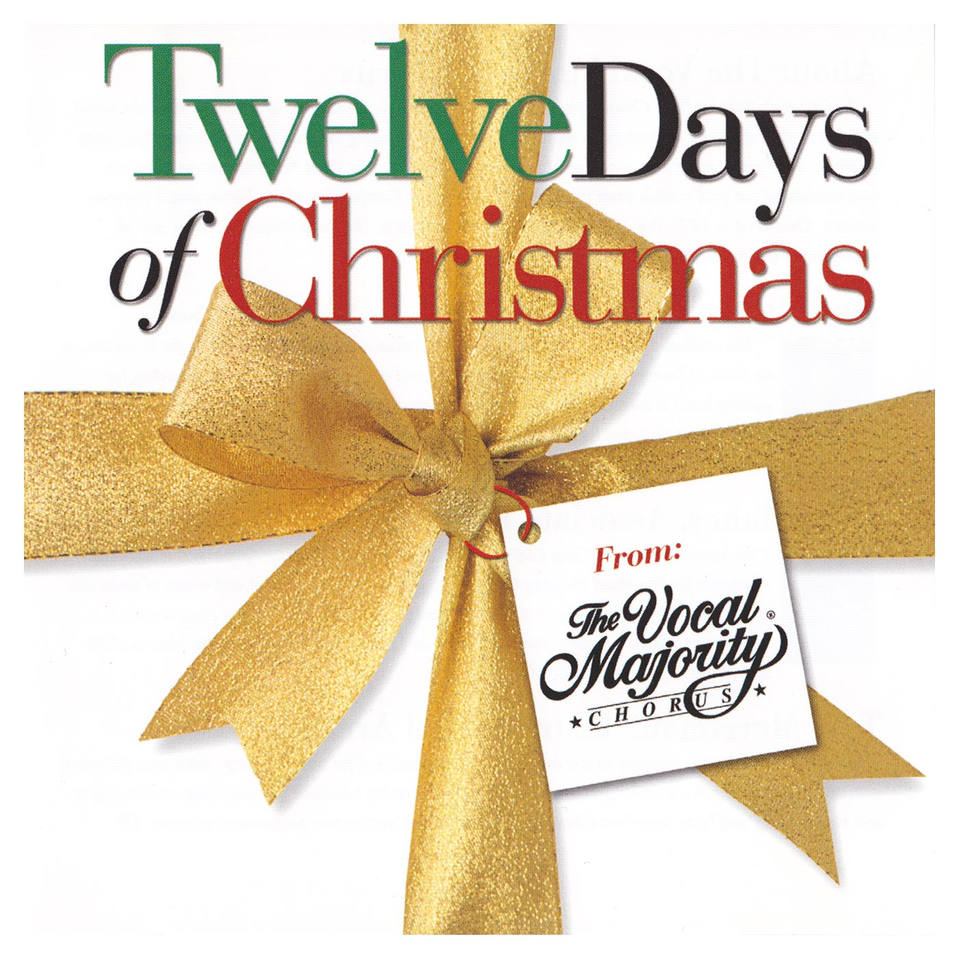 Booklet Front Cover: Twelve Days of Christmas