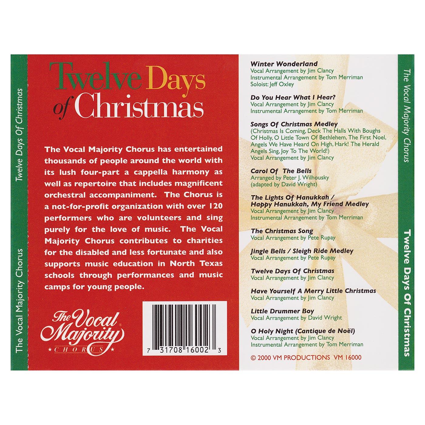 Tray Card: Twelve Days of Christmas