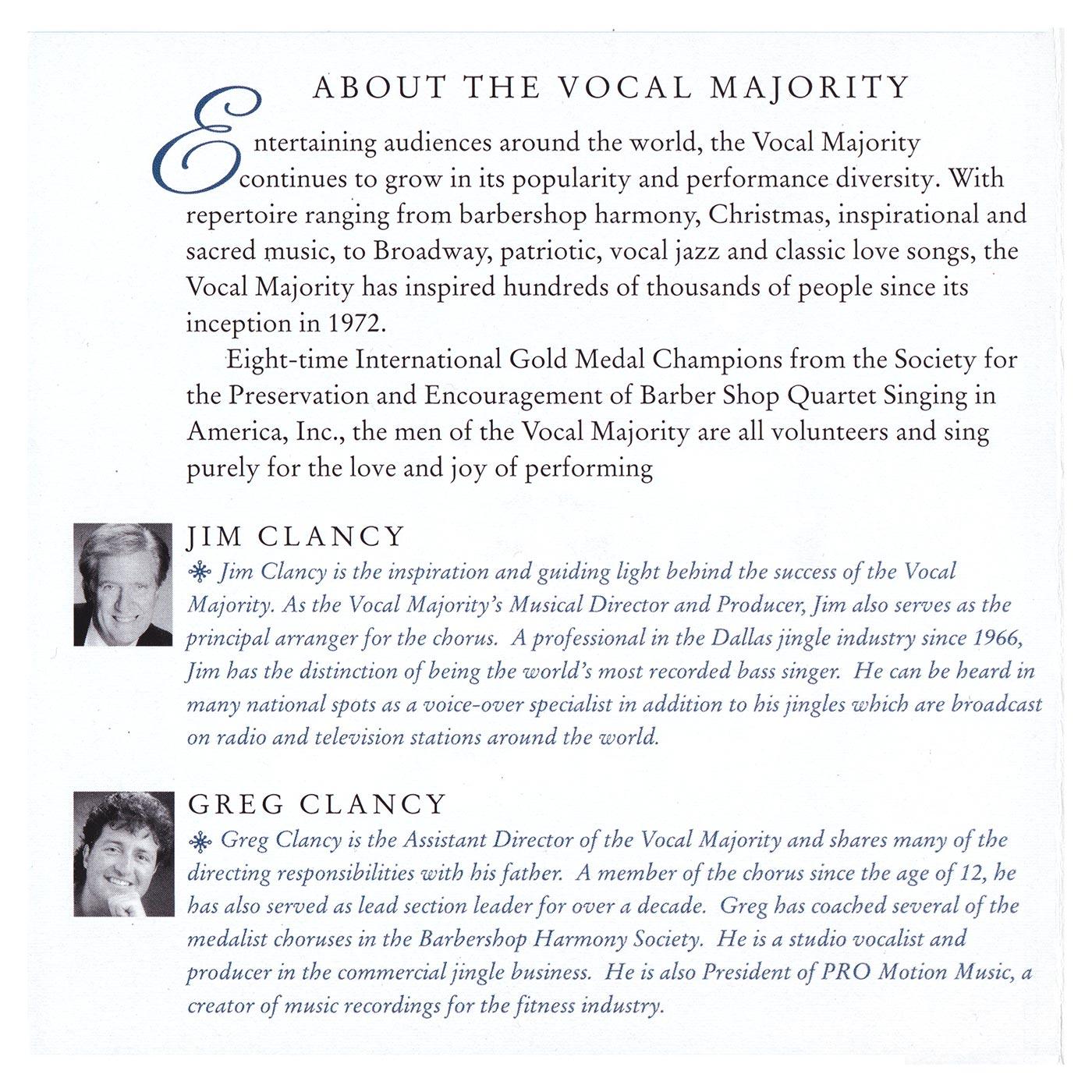 Booklet Inside Left Panel: White Christmas