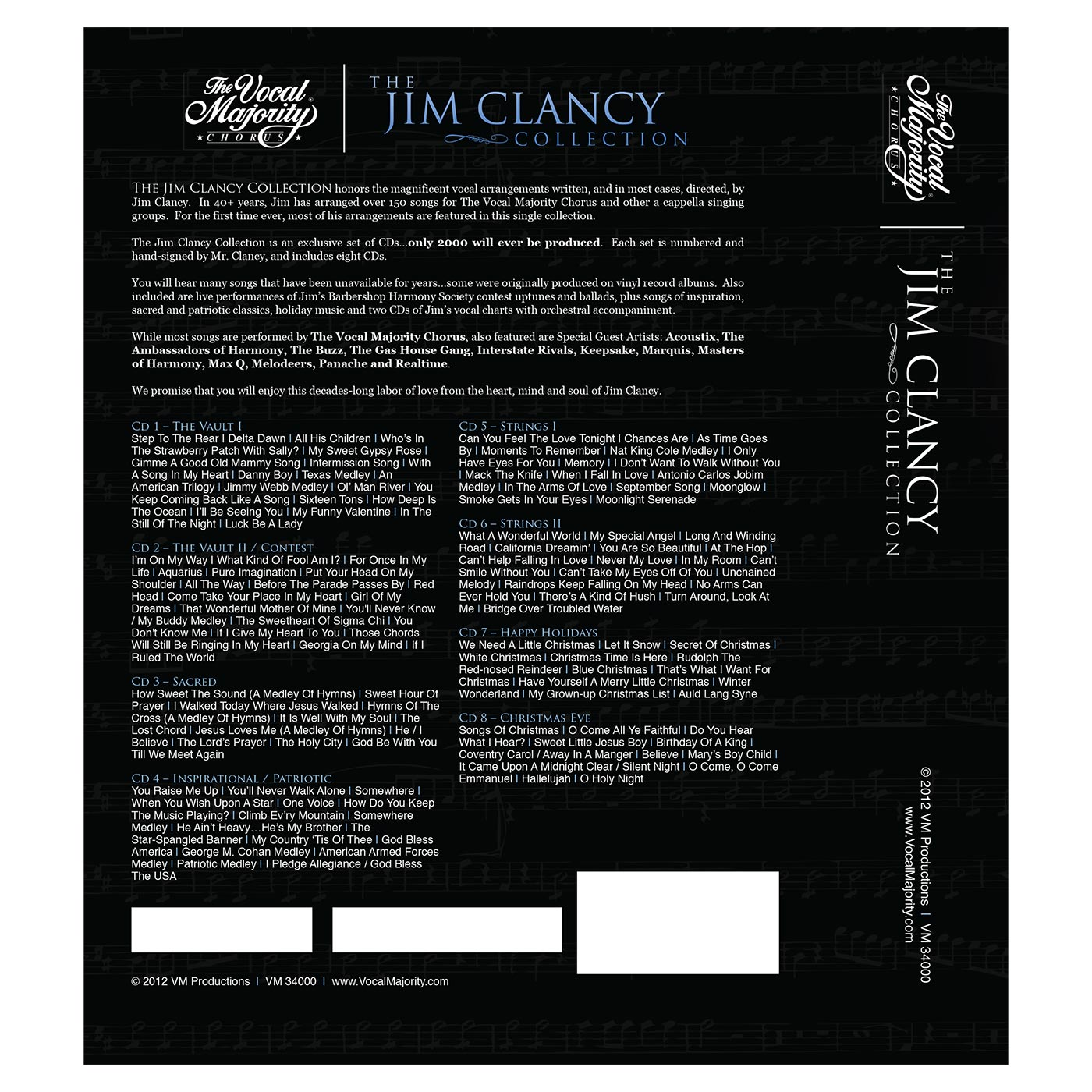 Package Back Cover: Jim Clancy Collection