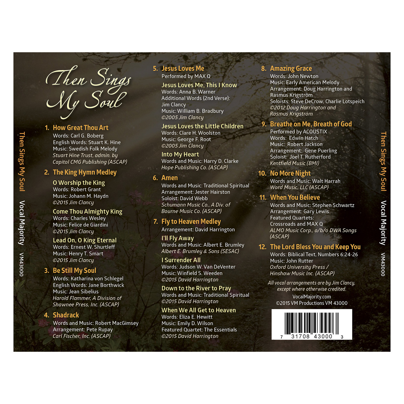 Tray Card: Then Sings My Soul