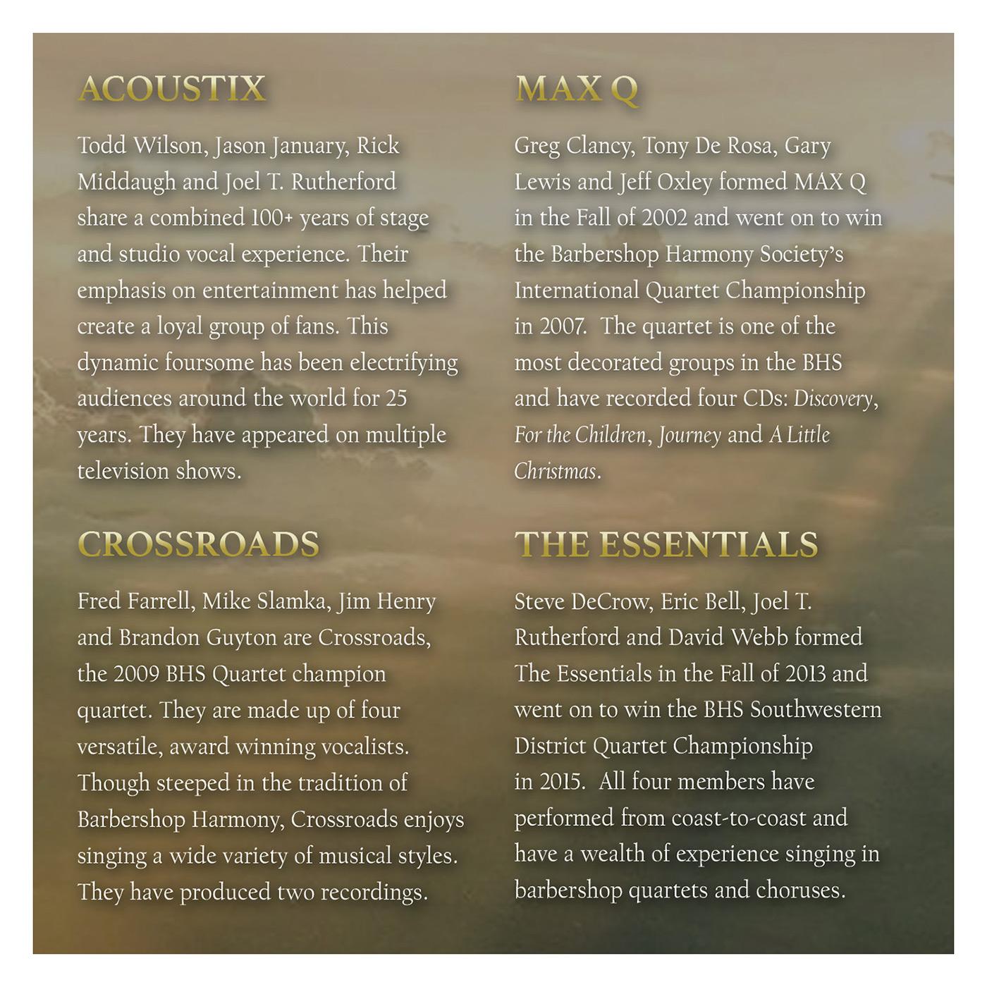Booklet Inside Panel 4 of 4: Then Sings My Soul