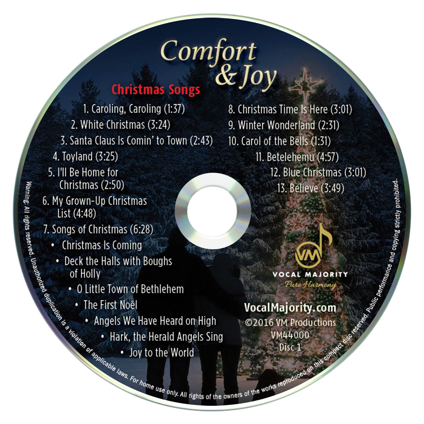 Disc Art CD 1: Comfort & Joy