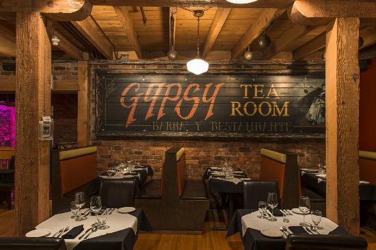 Warm ambience of the Gypsy Tea Room, St. John's
