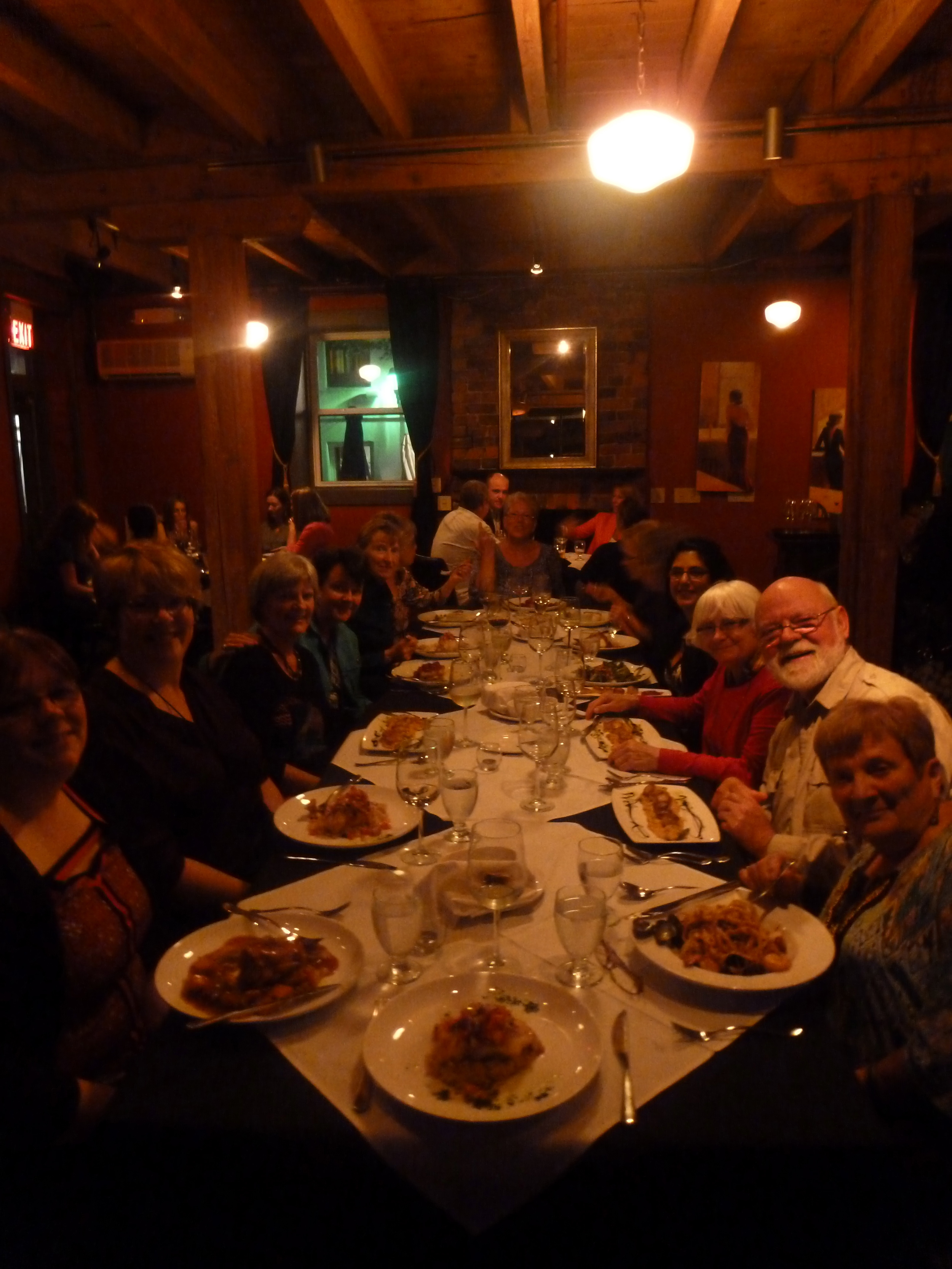 My awesome group eating the first of many incredible meals