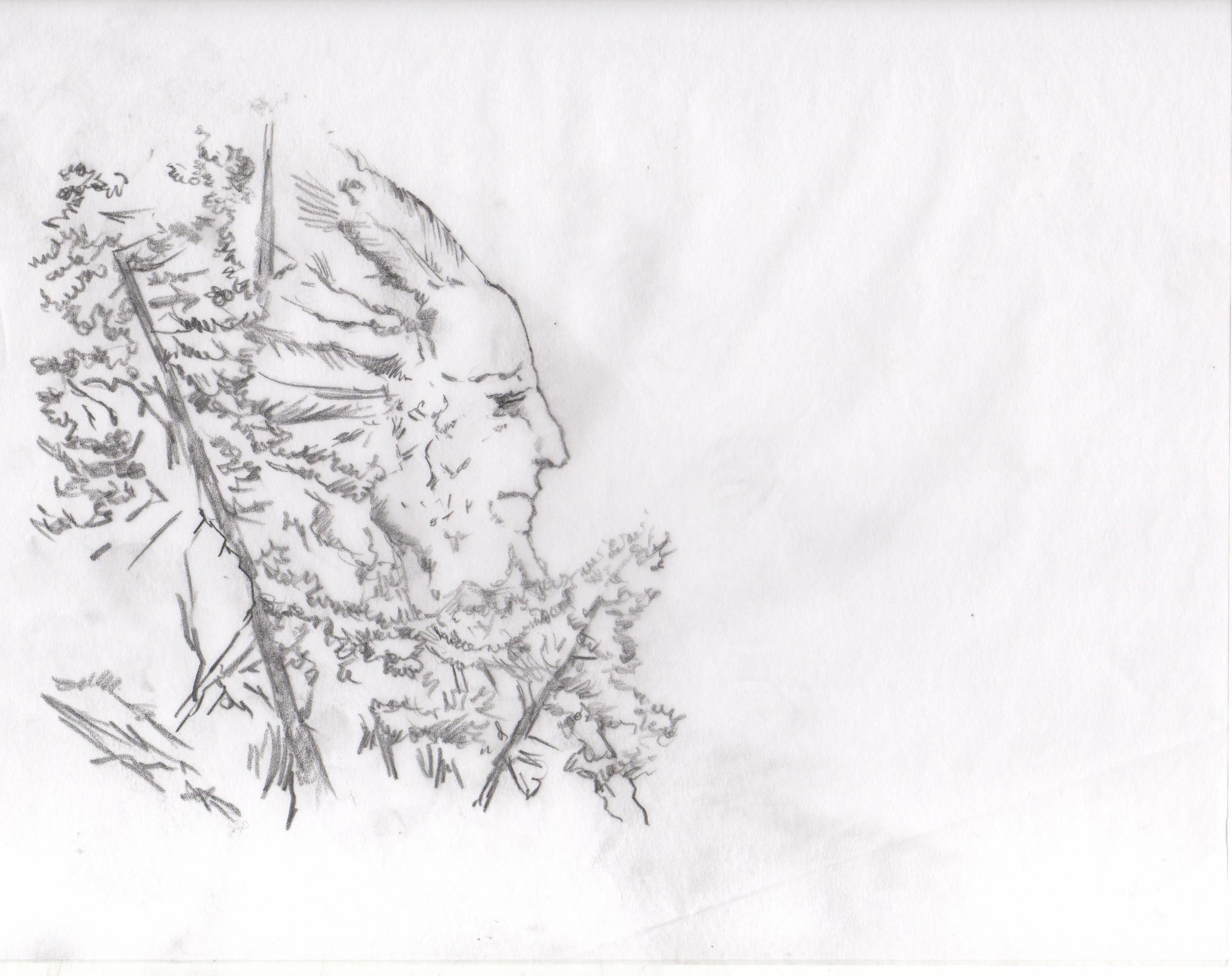 Frame (pencil sketch) for Opener for Hard Rock Medical TV series