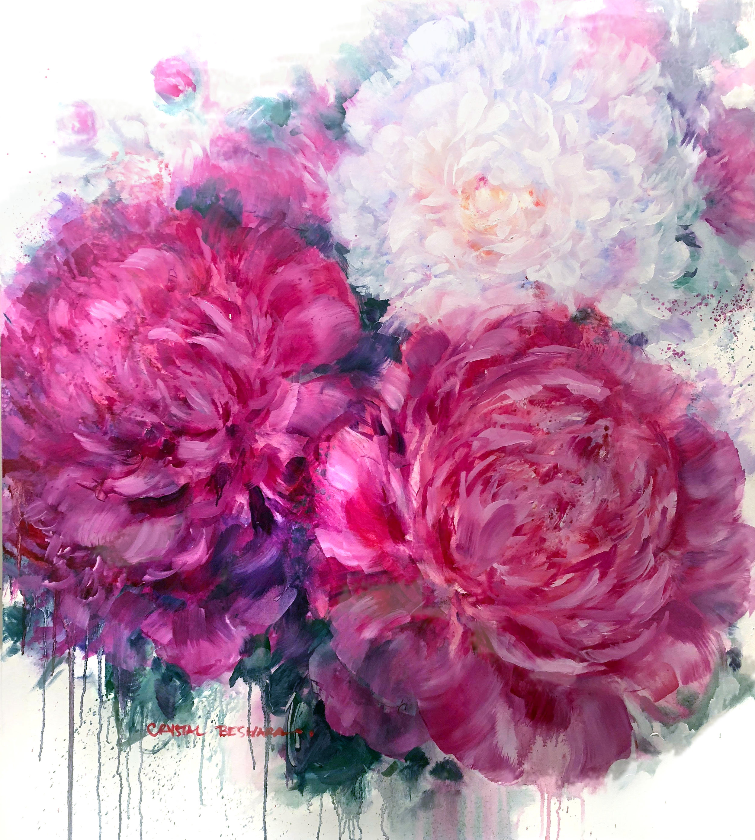 """""""Heritage Peonies"""" SOLD private collection"""