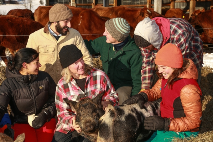 The farm crew at Bread & Butter Farm  South Burlington, VT