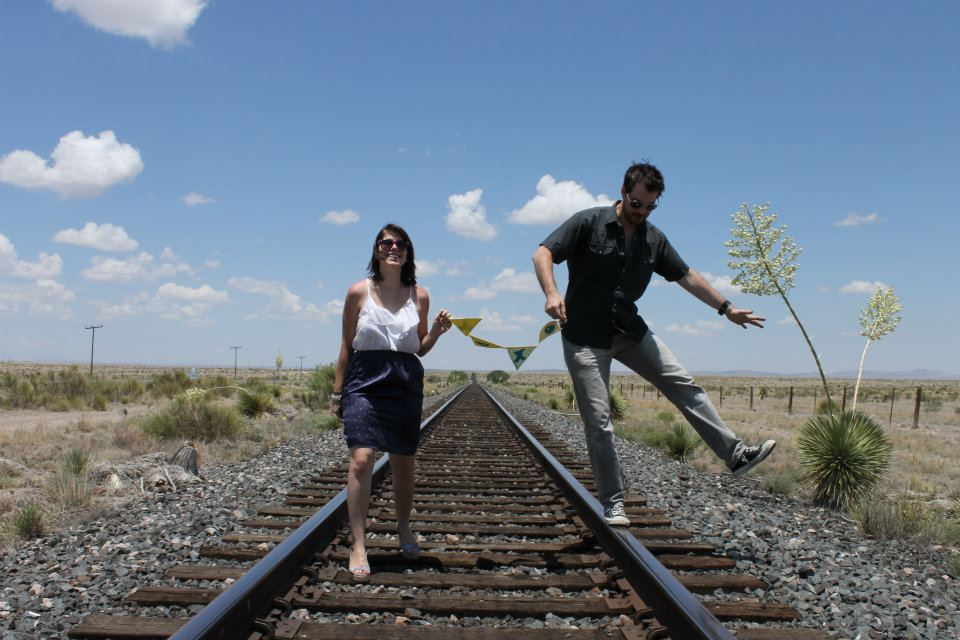 Our one-year anniversary photo in Marfa, Texas