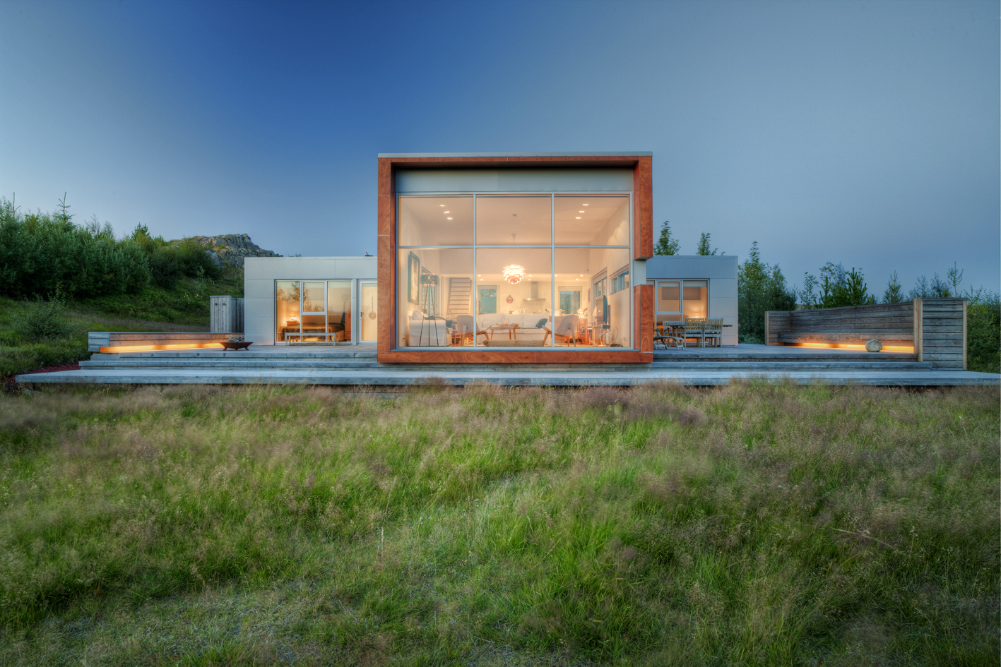 Modern cabin from  Arch Daily