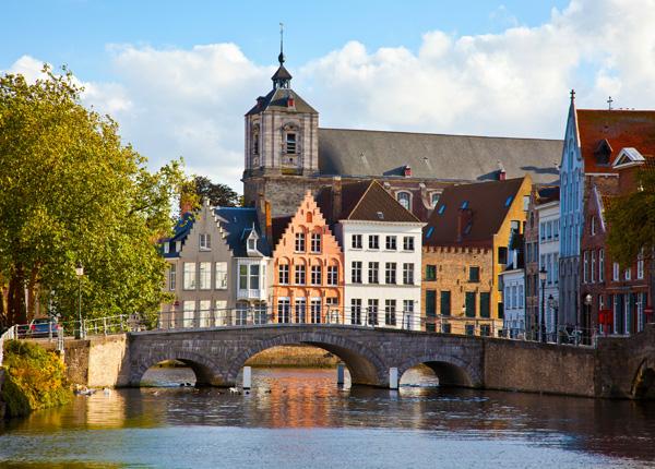 Bruges, Belgium from Eurail