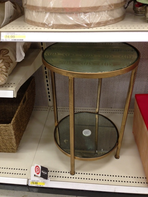 Threshold Mirror Etched Side Table , currently on sale for $71.99.