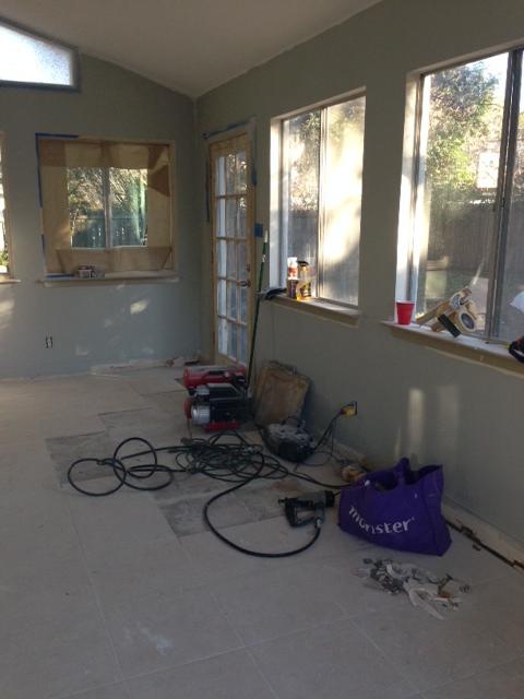 Sunroom, One Month Progress