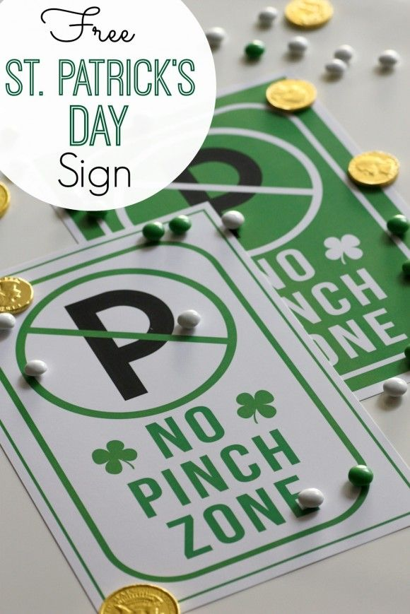 No Pinch Zone sign download by  Catch My Party