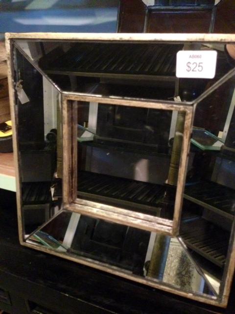Glass Bevel Mirror, $25