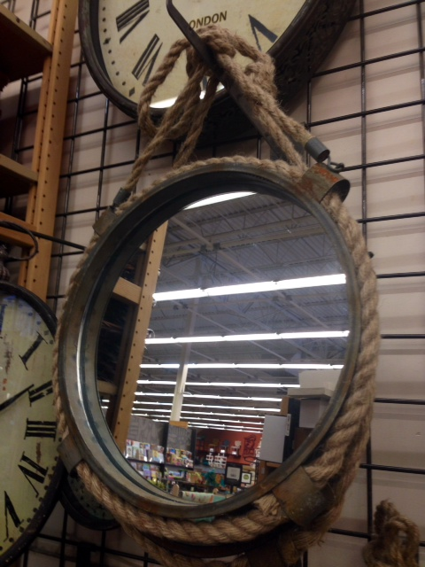 Rope and Metal Mirror, $40