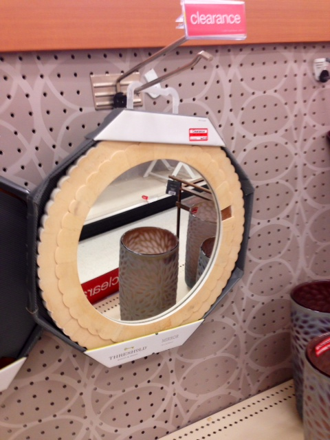 Scalloped Ivory Mirror, $27.99 (marked down for chip)