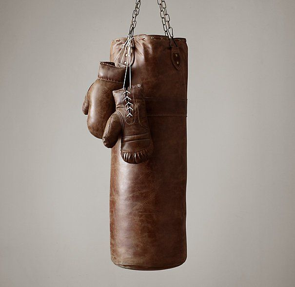 Vintage Leather Punching Bag from  The Gadget Flow
