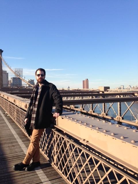 Keith on the Brooklyn Bridge