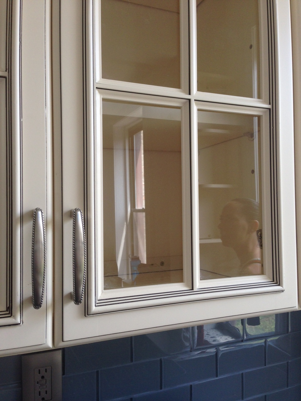 Excuse the reflection of our building manager, but how amazing are these cabinets?