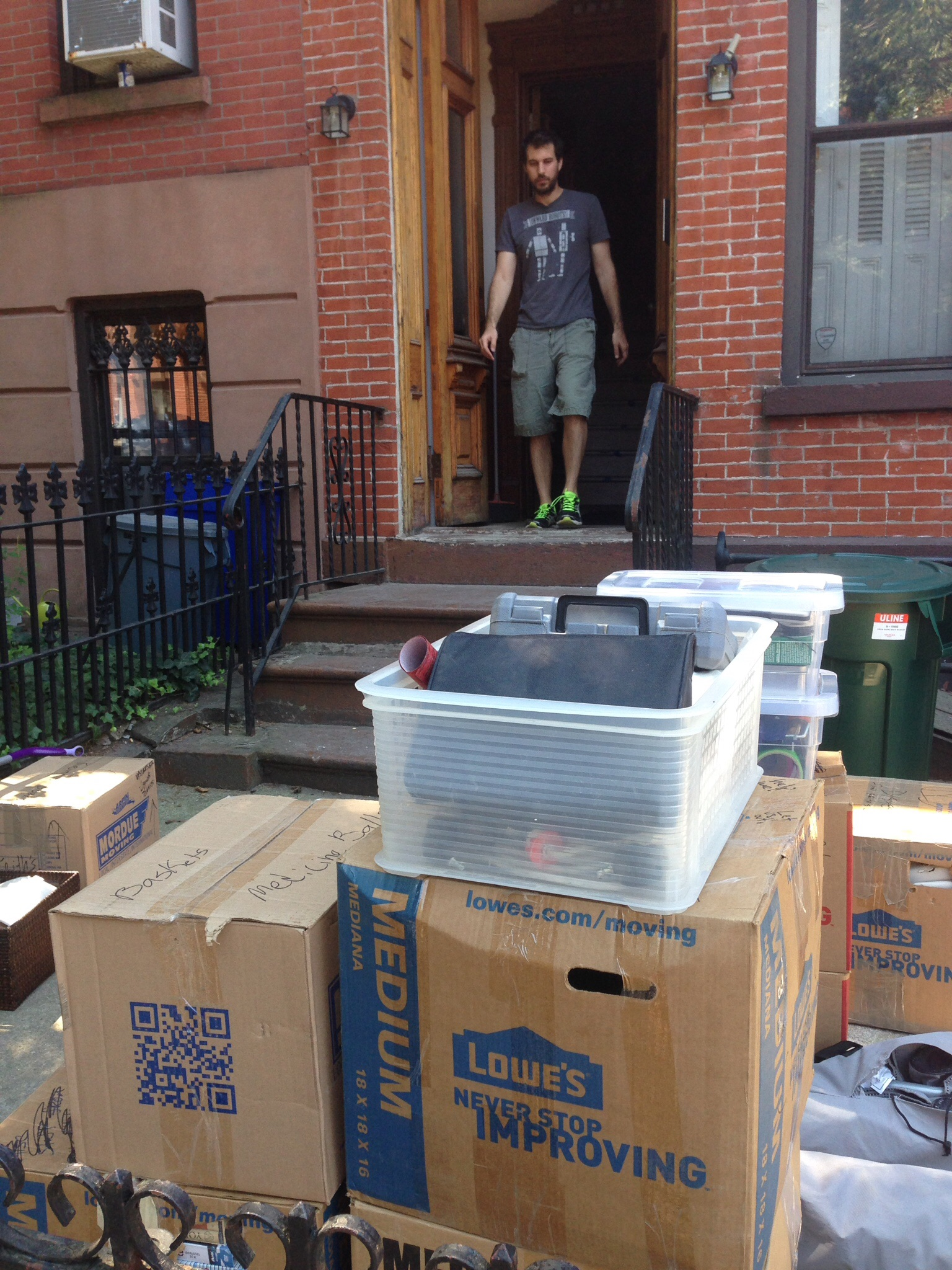 Move-in day and my very strong husband who lugged everything upstairs himself.