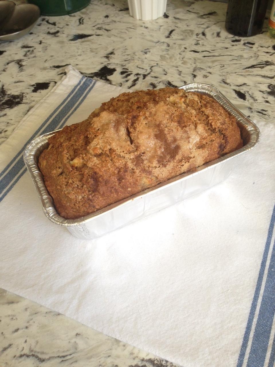Cinnamon Apple Pie Bread - was sliced and frozen!