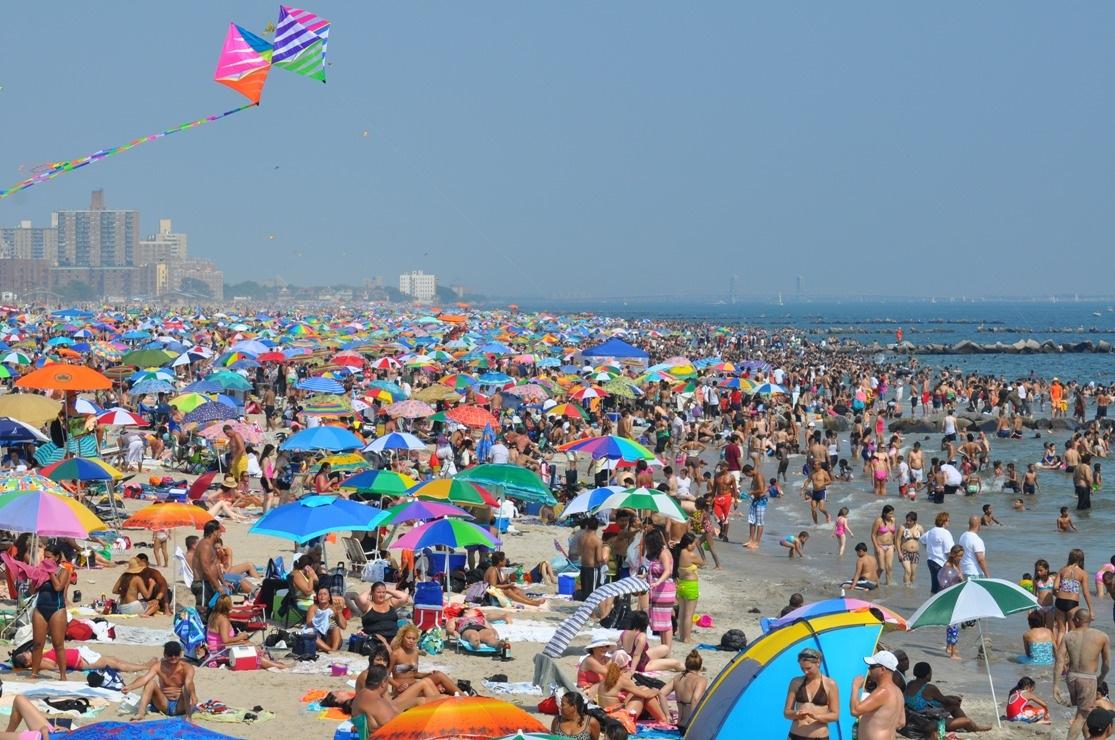 Coney Island Beach by Fan Pop