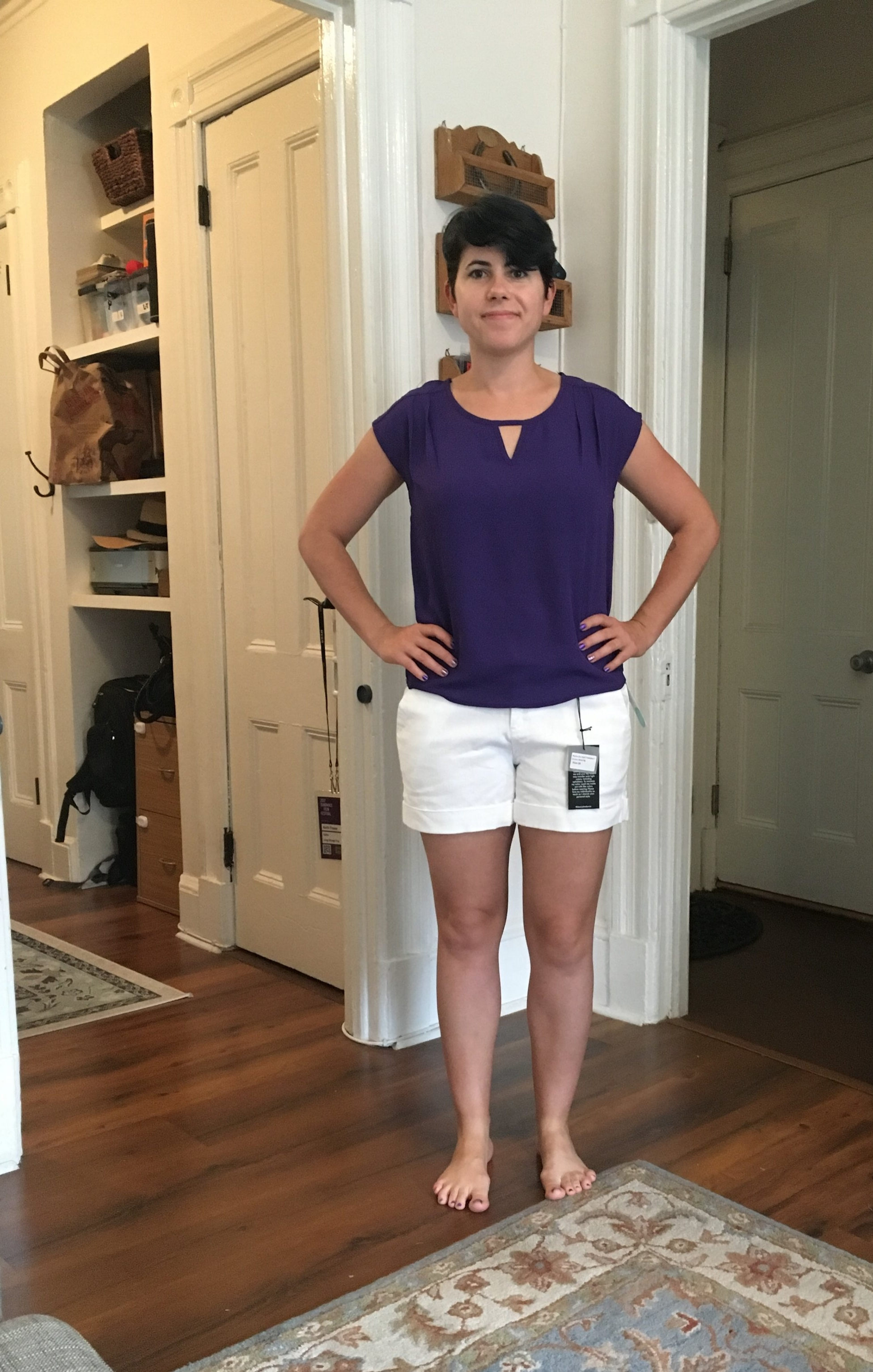 One of my March Stitch Fix pairings - kept the shorts!