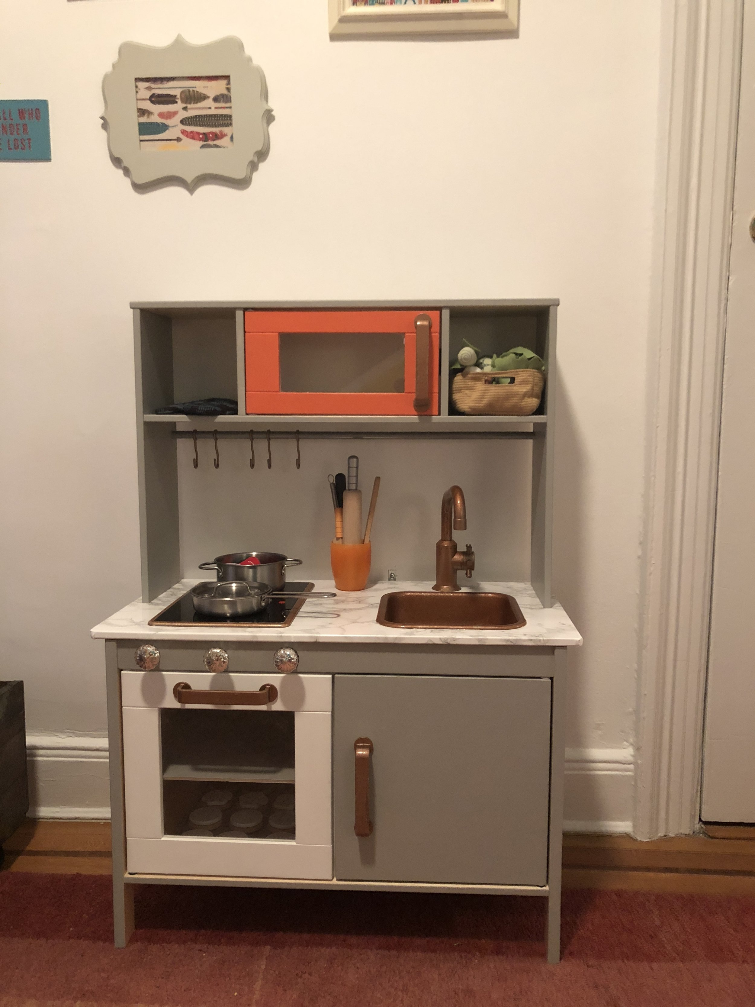 Hacking a Tiny Play Kitchen — An Uncommon Fraase