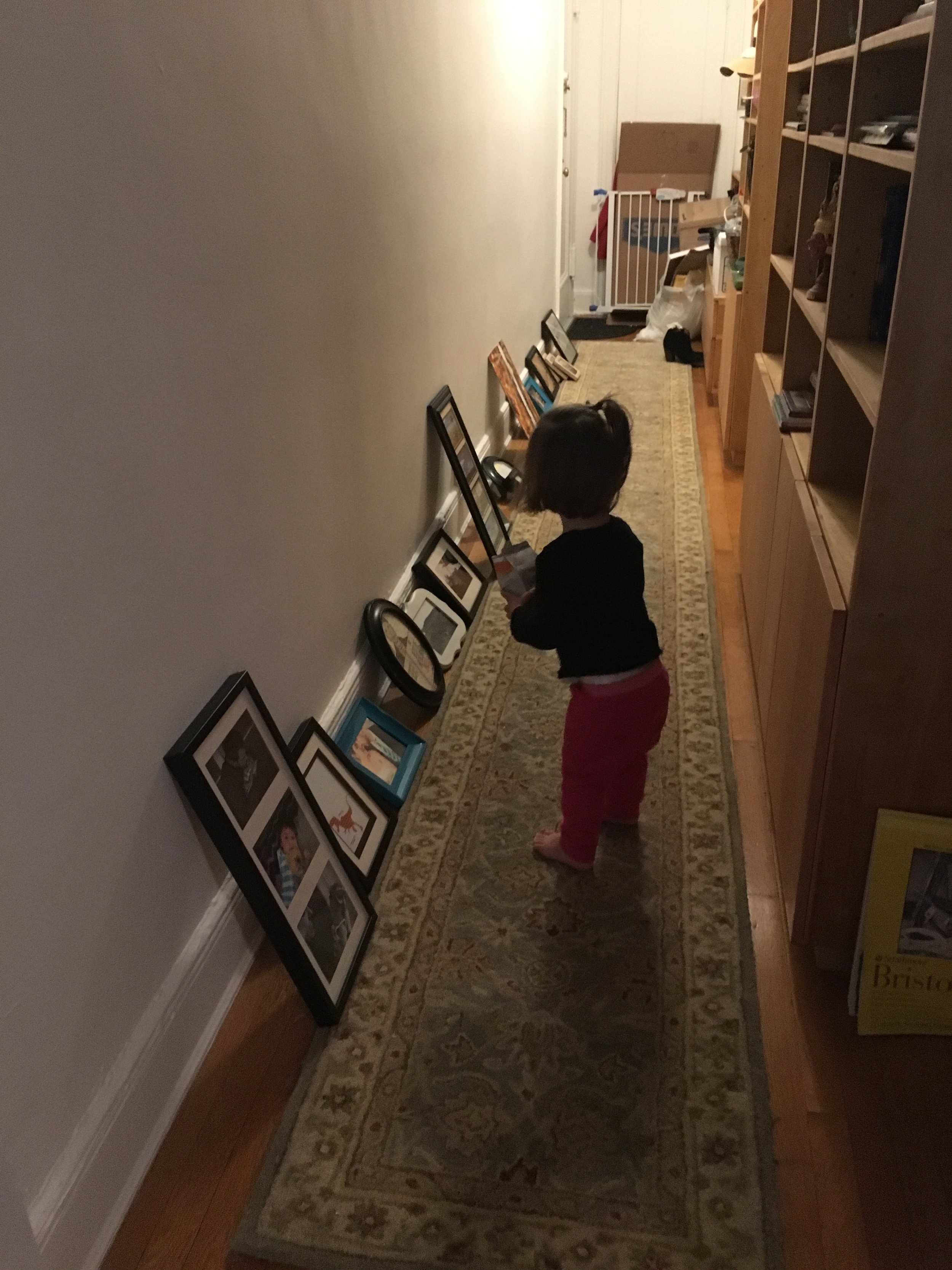 Adeline vetoed this hallway gallery wall. She was right.