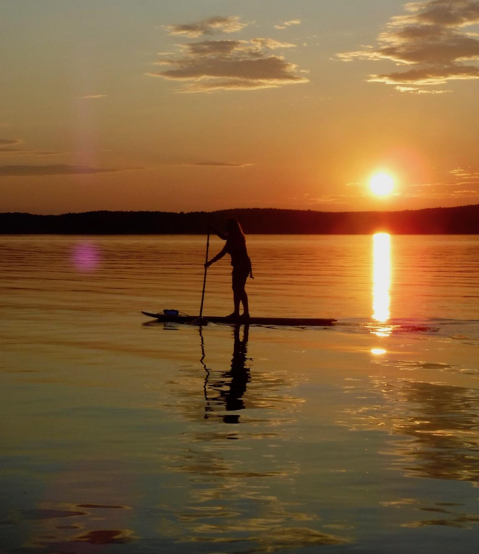 Sunset paddle on Jordan Lake