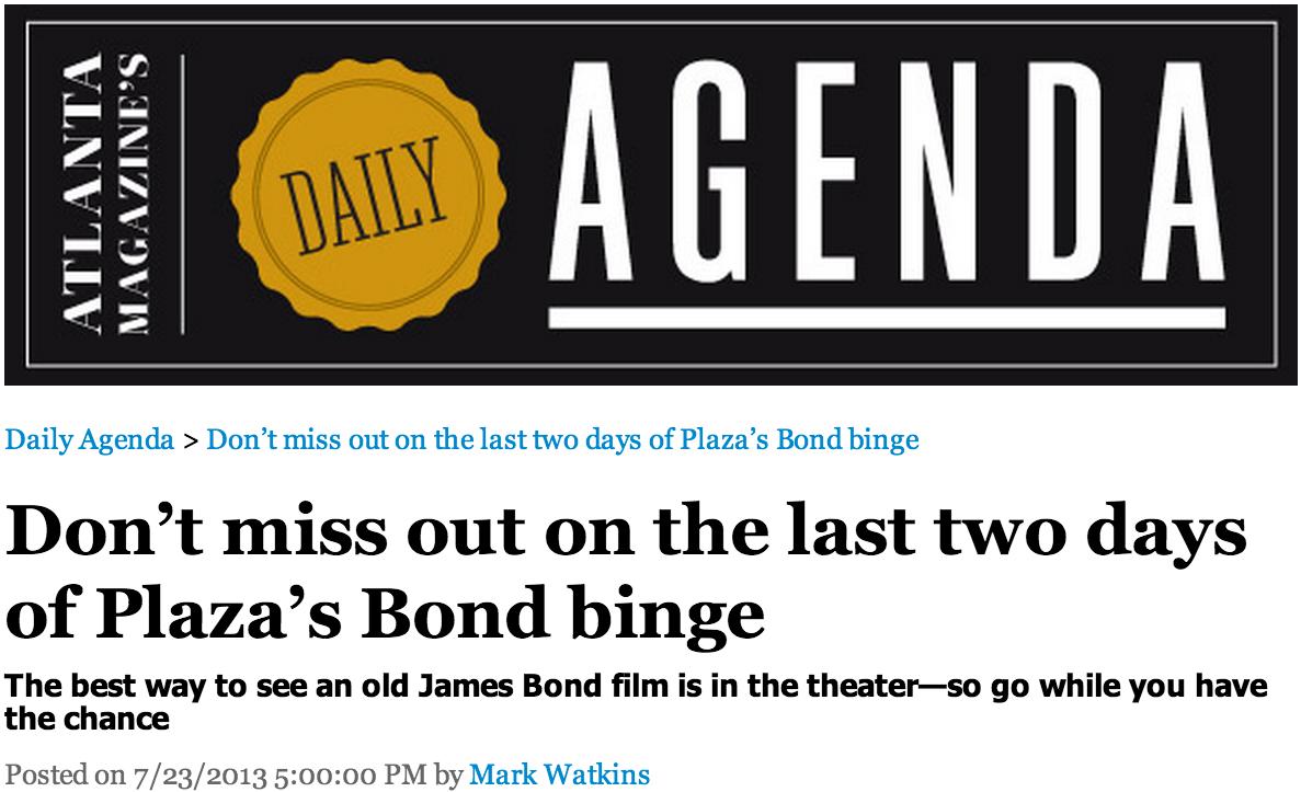 James Bond - Agenda Banner