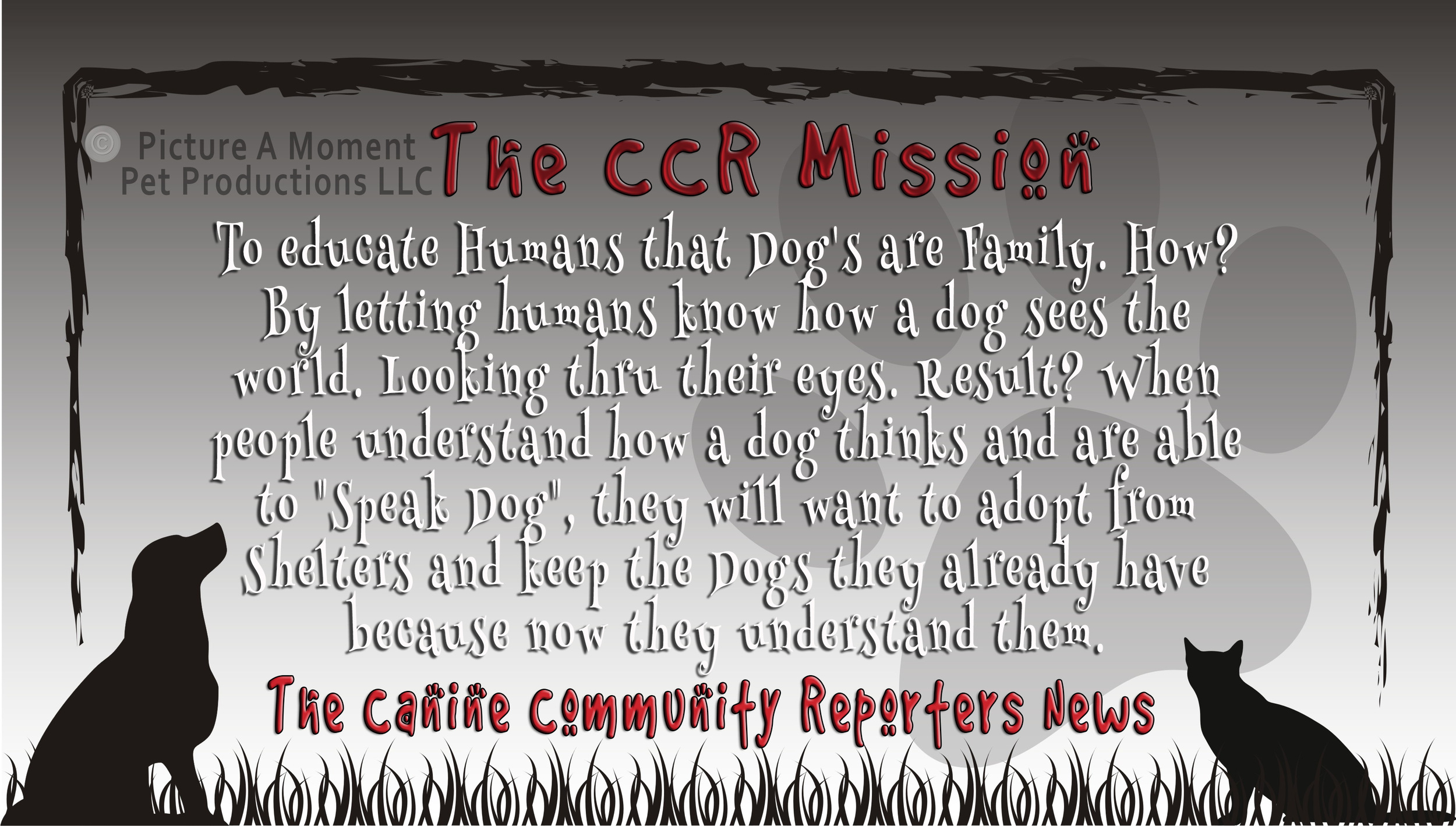 The mission statement of our Canine Community Reporters news