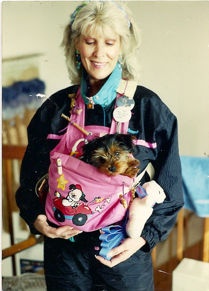 copyright 2013 Kathy Tarochione her puppy Maggie in the early 1990's