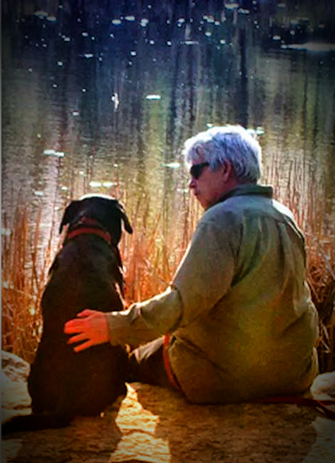 Max A Pooch explains to his human Keith, how litter can help Keith find good fishing spots.