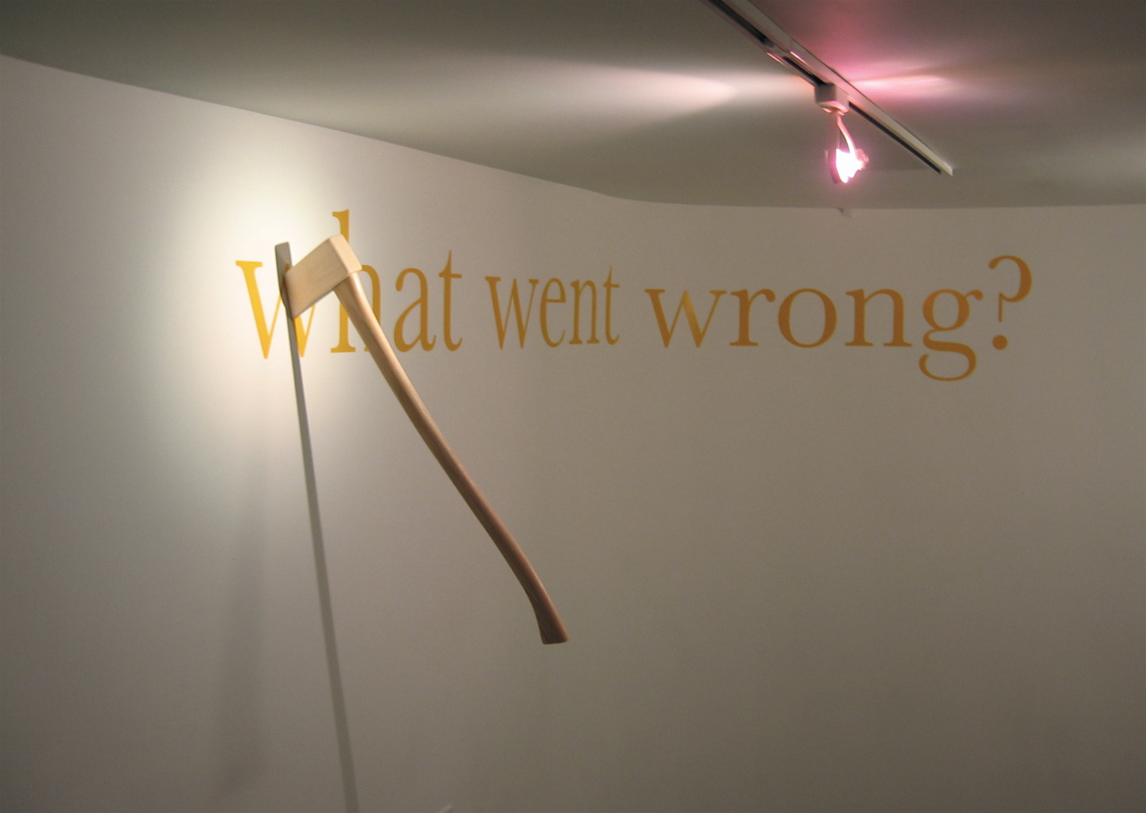 untitled (Wall with Axe), 2007; mixed media installation